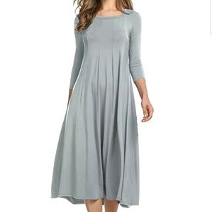 Dresses & Skirts - Grey  Casual Skater Dress